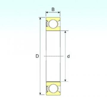 5 mm x 19 mm x 6 mm  ISB 635-Z deep groove ball bearings