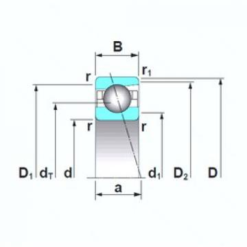 180 mm x 280 mm x 46 mm  NSK 7036A5TRSU angular contact ball bearings