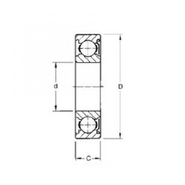 5 mm x 19 mm x 6 mm  Timken 35KD deep groove ball bearings