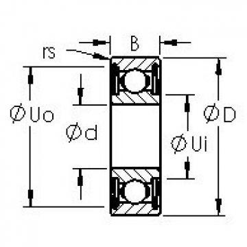 AST 635HZZ deep groove ball bearings