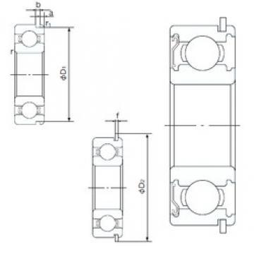 30 mm x 42 mm x 7 mm  NACHI 6806ZENR deep groove ball bearings