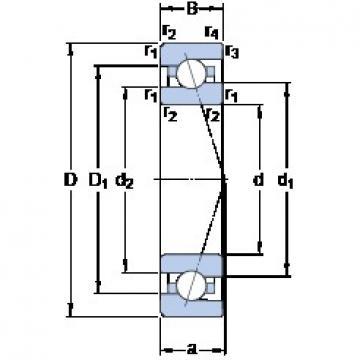 100 mm x 150 mm x 24 mm  SKF 7020 ACE/HCP4A angular contact ball bearings