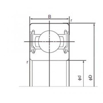 50 mm x 72 mm x 12 mm  NACHI 6910-2NSE deep groove ball bearings