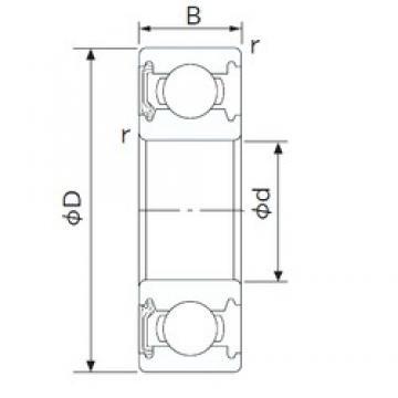 50 mm x 72 mm x 12 mm  NACHI 6910NKE deep groove ball bearings