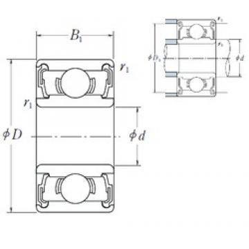 5 mm x 19 mm x 6 mm  ISO 635-2RS deep groove ball bearings