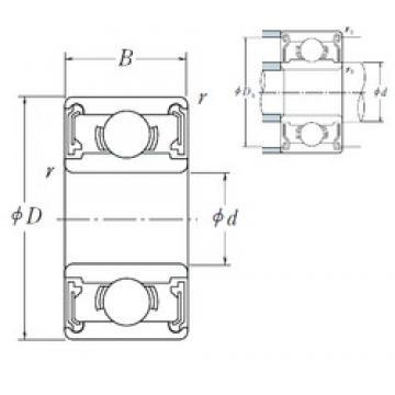 5 mm x 19 mm x 6 mm  NSK 635 VV deep groove ball bearings