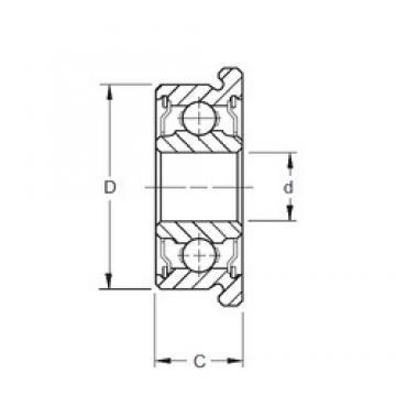 5 mm x 19 mm x 6 mm  ZEN F635-2RS deep groove ball bearings