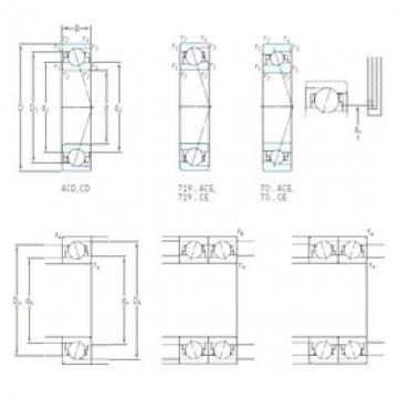 180 mm x 280 mm x 46 mm  SKF 7036 CD/P4A angular contact ball bearings