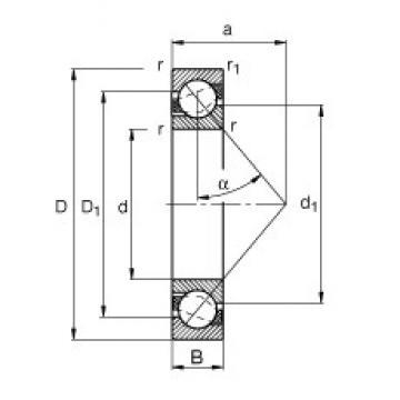 30 mm x 42 mm x 7 mm  FAG 71806-B-TVH angular contact ball bearings
