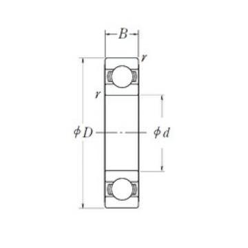 50 mm x 72 mm x 12 mm  NSK 6910L11 deep groove ball bearings