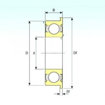 30 mm x 42 mm x 7 mm  ISB F6806ZZ deep groove ball bearings