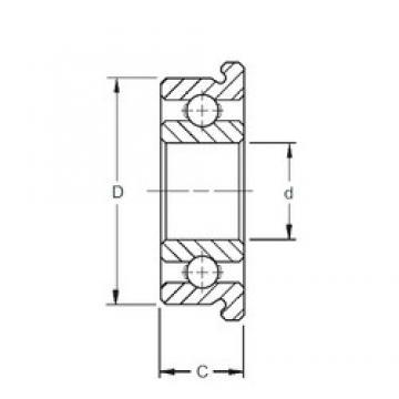 5 mm x 19 mm x 6 mm  ZEN F635 deep groove ball bearings