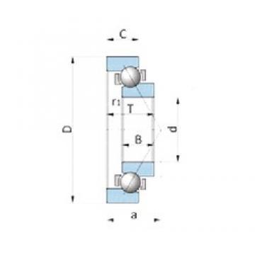 NSK BA180-4WSA angular contact ball bearings