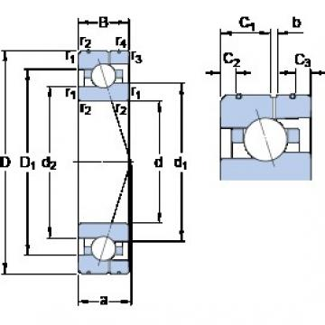 100 mm x 150 mm x 24 mm  SKF 7020 CE/HCP4AL angular contact ball bearings