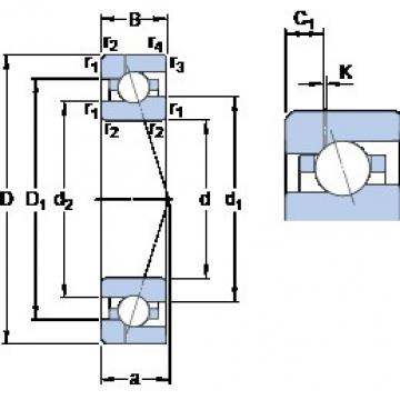 100 mm x 150 mm x 24 mm  SKF 7020 CE/P4AH1 angular contact ball bearings
