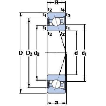 100 mm x 150 mm x 24 mm  SKF S7020 ACE/HCP4A angular contact ball bearings