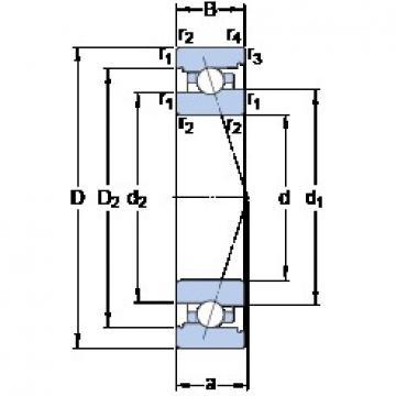 100 mm x 150 mm x 24 mm  SKF 7020 ACB/HCP4A angular contact ball bearings