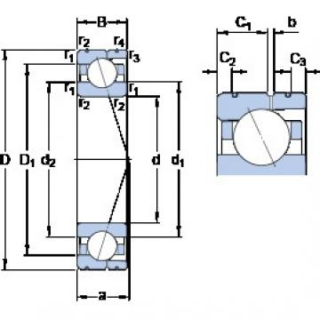 100 mm x 150 mm x 24 mm  SKF 7020 CD/P4AL angular contact ball bearings