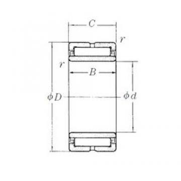 190 mm x 260 mm x 69 mm  NSK NA4938 needle roller bearings