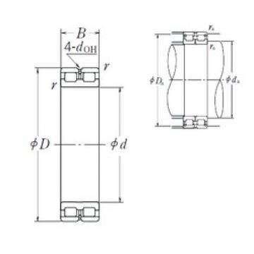190 mm x 260 mm x 69 mm  NSK RSF-4938E4 cylindrical roller bearings
