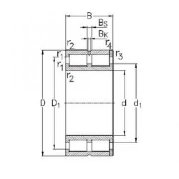 190 mm x 260 mm x 69 mm  NKE NNC4938-V cylindrical roller bearings