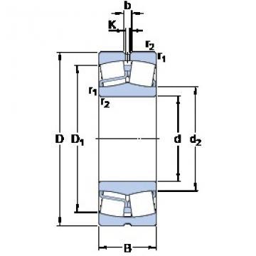 70 mm x 150 mm x 35 mm  SKF 21314 E spherical roller bearings