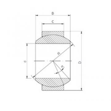 17 mm x 35 mm x 20 mm  Loyal GE 017 HS-2RS plain bearings