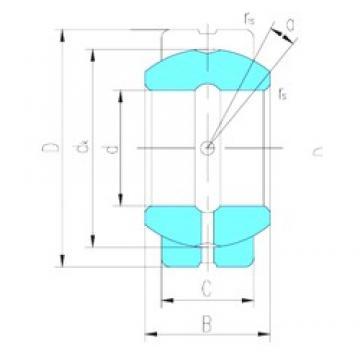 17 mm x 35 mm x 20 mm  LS GEG17ES plain bearings