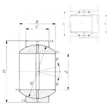 17 mm x 35 mm x 20 mm  IKO GE 17GS plain bearings