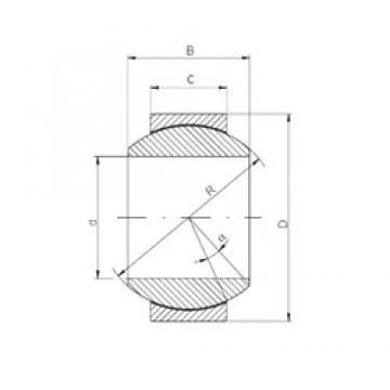 17 mm x 35 mm x 20 mm  Loyal GE 017 HCR plain bearings