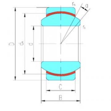 17 mm x 35 mm x 20 mm  LS GEG17N plain bearings