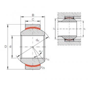 17 mm x 35 mm x 20 mm  INA GE 17 FW plain bearings