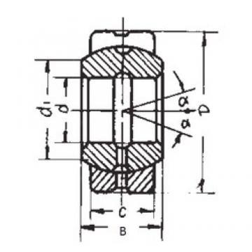 40 mm x 62 mm x 28 mm  FBJ GE40ES plain bearings