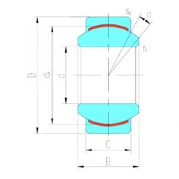 40 mm x 62 mm x 28 mm  LS GE40C plain bearings