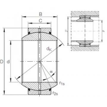 17 mm x 35 mm x 20 mm  INA GE 17 FO-2RS plain bearings