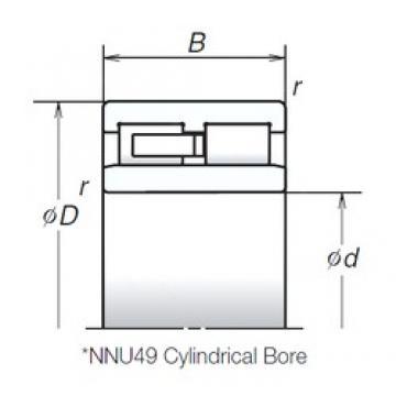 190 mm x 260 mm x 69 mm  NSK NNU4938MB cylindrical roller bearings