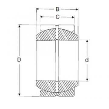 40 mm x 62 mm x 28 mm  SIGMA GE 40 ES plain bearings