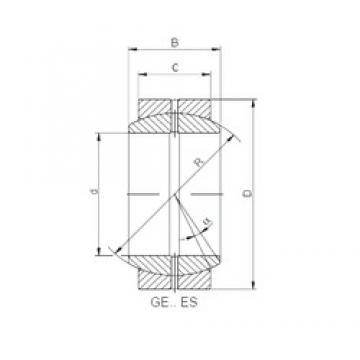 40 mm x 62 mm x 28 mm  ISO GE 040 ES plain bearings