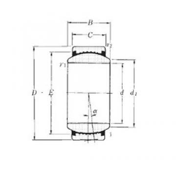 40 mm x 62 mm x 28 mm  NTN SAR1-40SS plain bearings