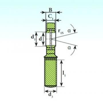 40 mm x 62 mm x 28 mm  ISB SA 40 ES plain bearings