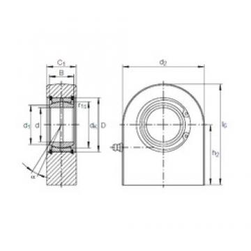 40 mm x 62 mm x 28 mm  INA GF 40 DO plain bearings