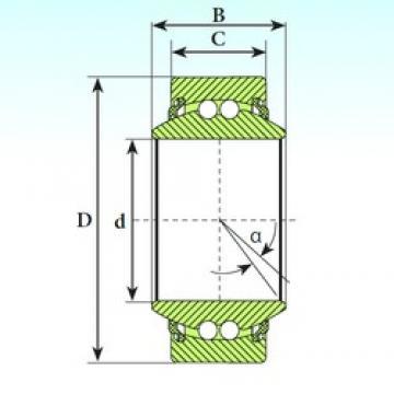 40 mm x 62 mm x 28 mm  ISB GE 40 BBL self aligning ball bearings