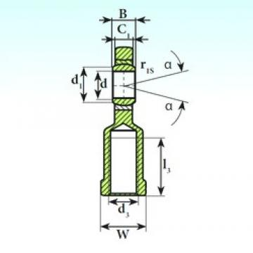 40 mm x 62 mm x 28 mm  ISB SI 40 C 2RS plain bearings