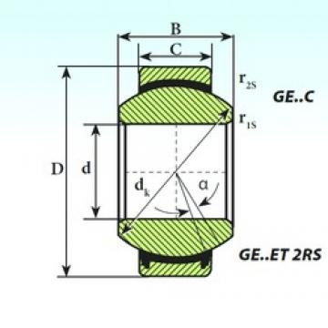 40 mm x 62 mm x 28 mm  ISB GE 40 ET 2RS plain bearings