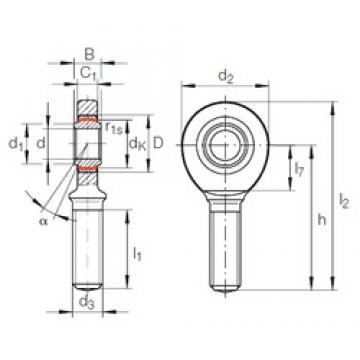 40 mm x 62 mm x 28 mm  INA GAR 40 UK-2RS plain bearings