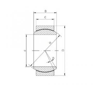 40 mm x 62 mm x 28 mm  ISO GE 040 ECR-2RS plain bearings