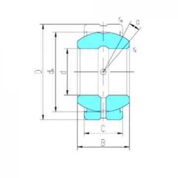 40 mm x 62 mm x 28 mm  LS GE40ES-2RS plain bearings