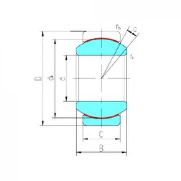 40 mm x 62 mm x 28 mm  LS GE40ET/X plain bearings