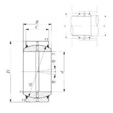 40 mm x 62 mm x 28 mm  IKO GE 40ES-2RS plain bearings