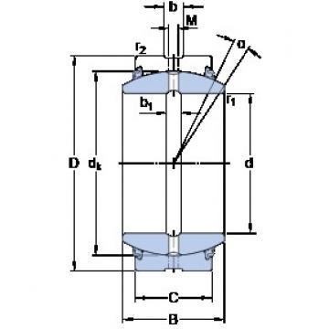 40 mm x 62 mm x 28 mm  SKF GE 40 ESX-2LS plain bearings